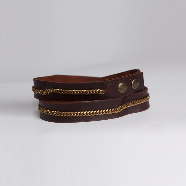 Braided Link Brown