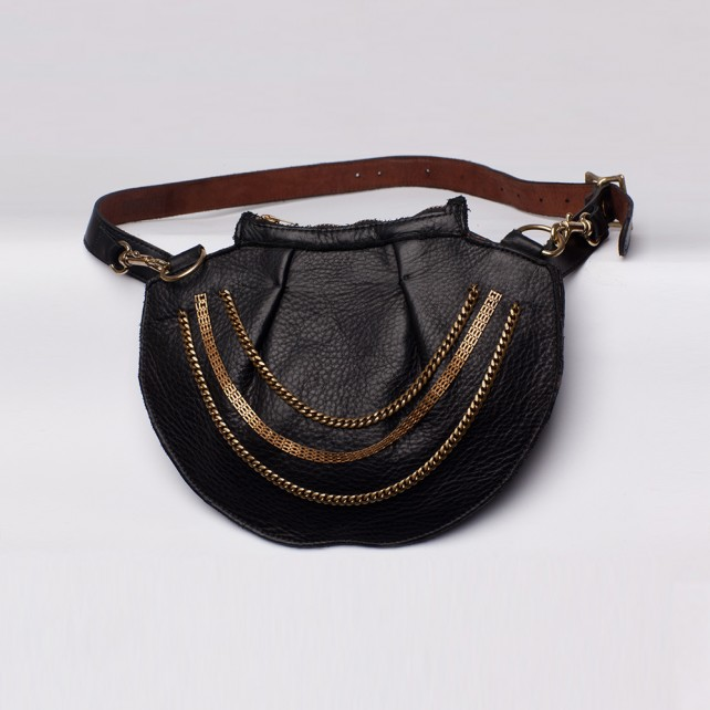 Sasha Chain Satchel Black
