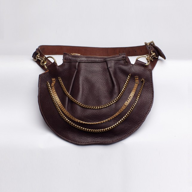 Sasha Chain Satchel Brown
